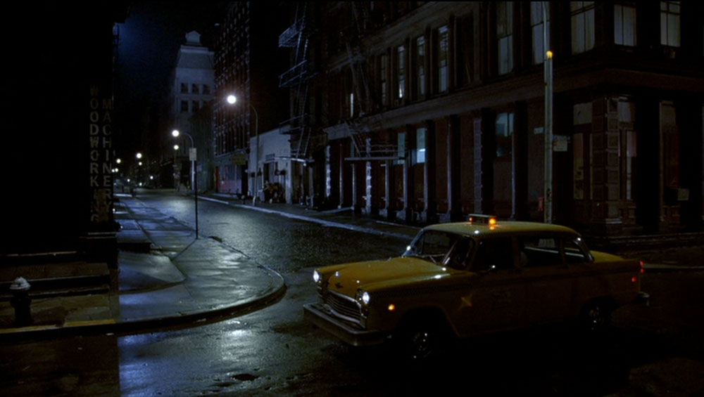 Taxi Cab on Howard Street and Crosby Street, after dark