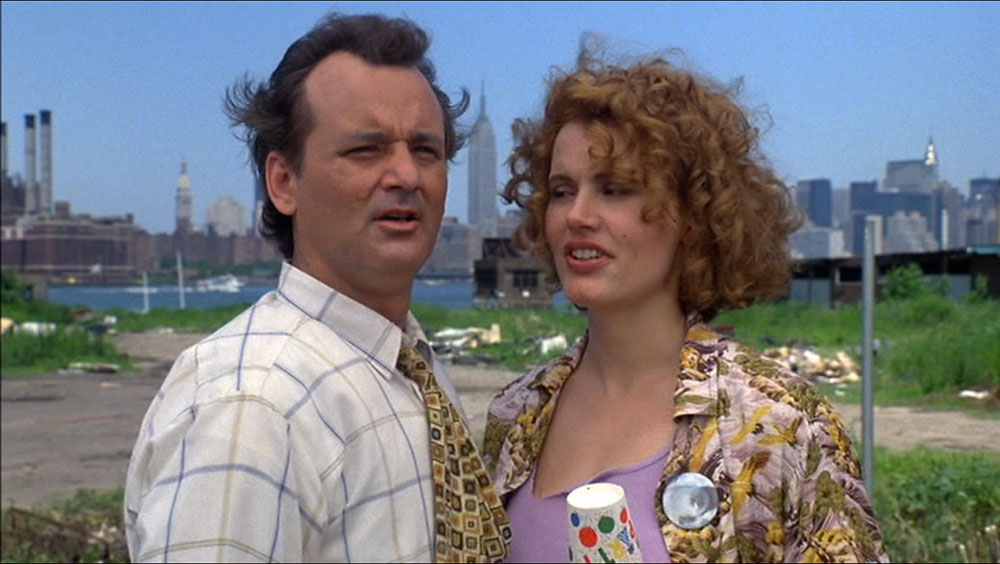 Bill Murray and Geena Davis with Manhattan in the background