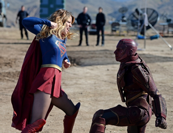Supergirl kicks major ass, as usual.