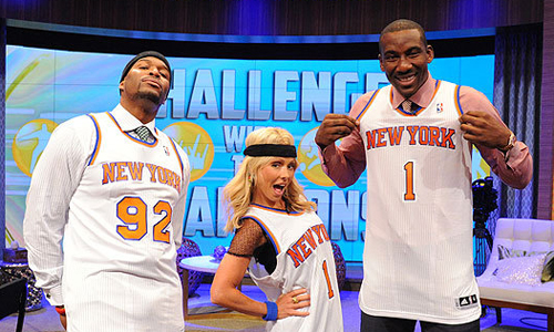 Amar'e Stoudemire and the new New York Knicks jerseys