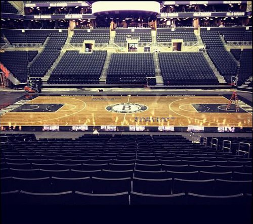 Barclays Center basketball court is looking good for the Brooklyn Nets