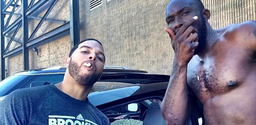 Deron Williams and Reggie Evans played a practical joke on the the so-called rook, MarShon Brooks by filling his car with popcorn