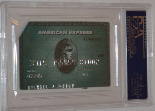 Michael Jordan's expired American Express card is up for auction