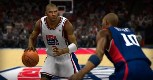 The battle of Team USA squads with Michael Jordan taking on Kobe Bryant on NBA 2K13