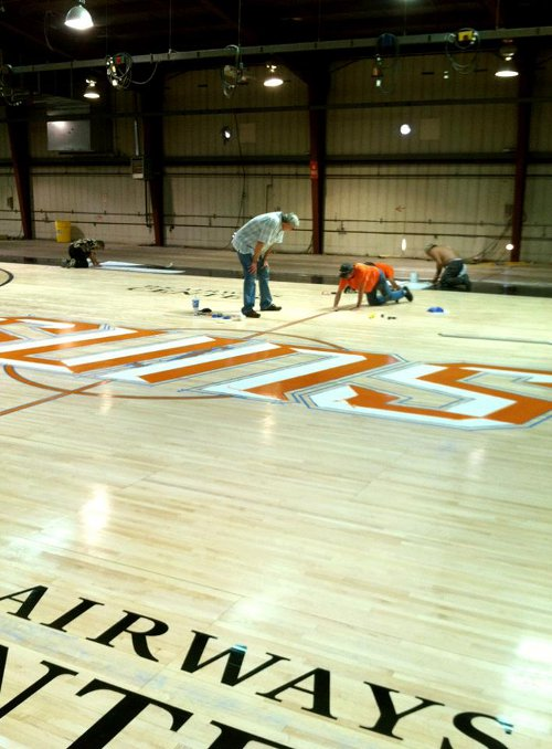 Things are changing for the Suns with no Steve Nash and a new Gorilla, so the court may as well change as well