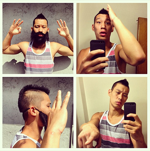 Jeremy Lin as James Harden and Chandler Parsons