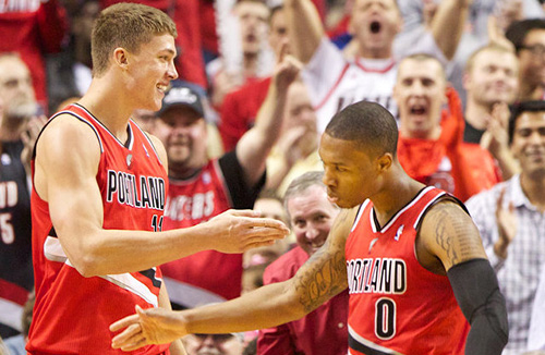 Meyers Leonard and Damian Lillard seem to be headed in different directions.