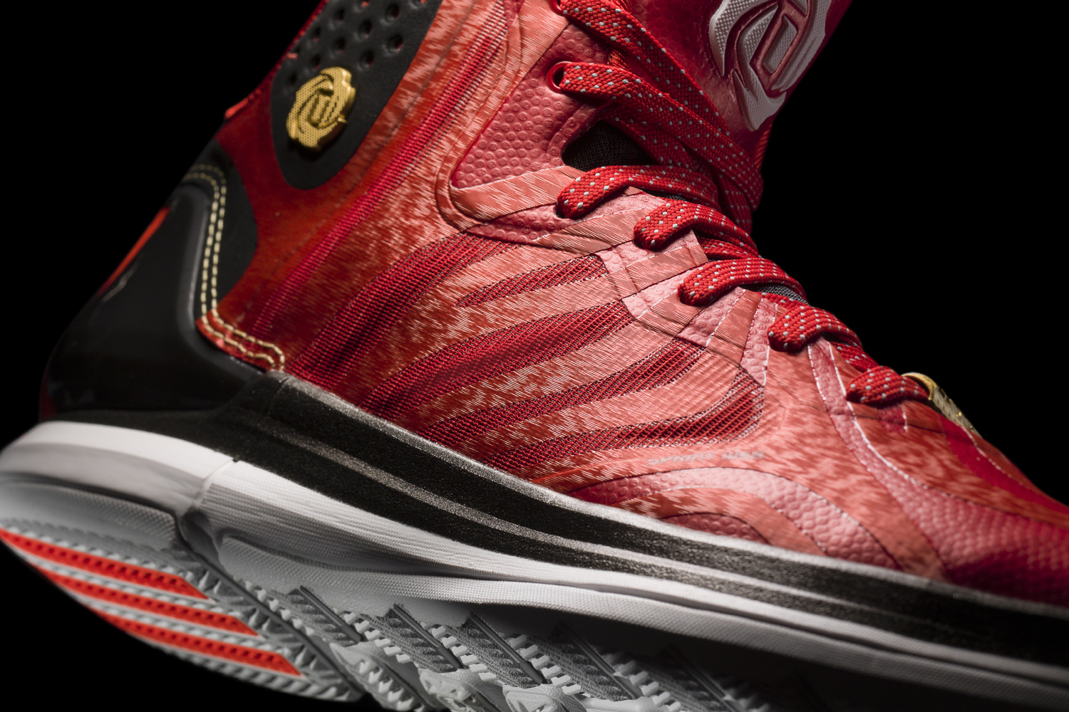 D Rose 4.5 Light Scarlet-Black-White Detail 1 (G66977). adidas today  unveiled the D ... 00cd6dd3c