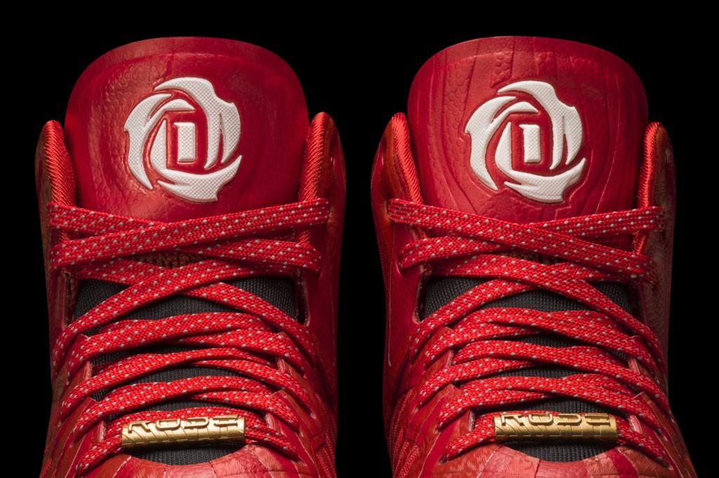 D Rose 4.5 Light Scarlet-Black-White Detail 3 (G66977)