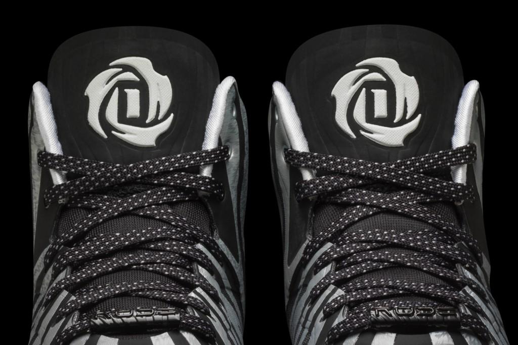 D Rose 4.5 White-White-Black Detail 3 (G99364)