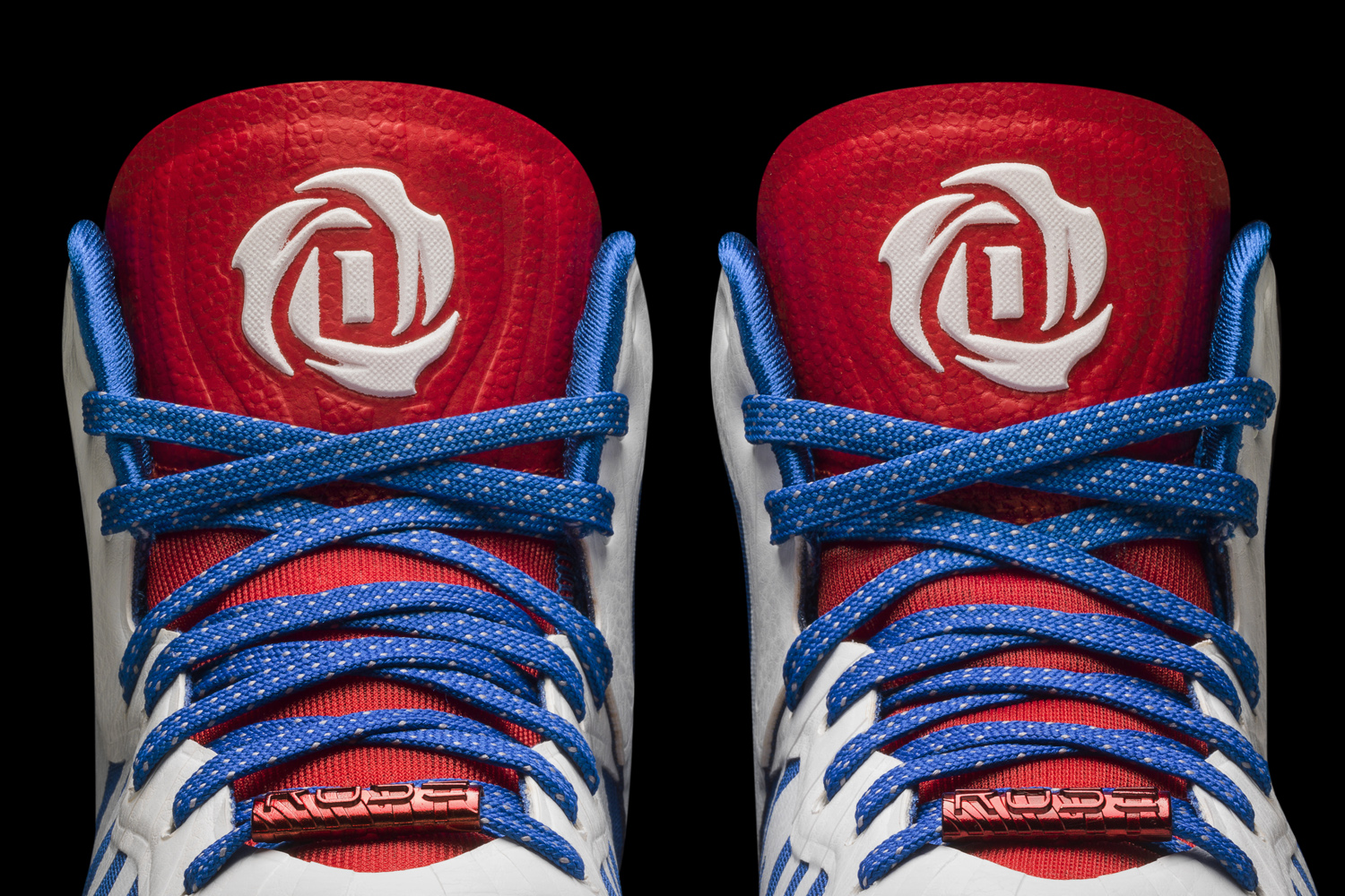 D Rose 4.5 white-navy-red Detail 3 (D74388). adidas today unveiled the ... f44deed80