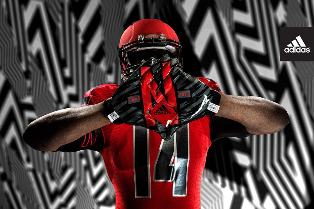 adidas Nebraska Red Rising_Gloves