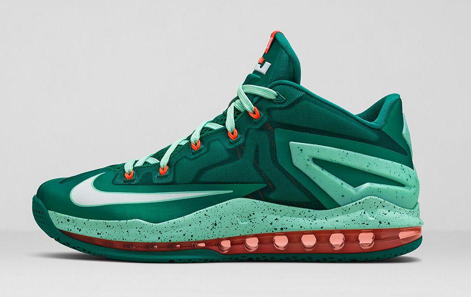 BMF Hoops  Nike LeBron 11 Max Low  Mystic Green  - Hardwood and ... fdaa1e01aece