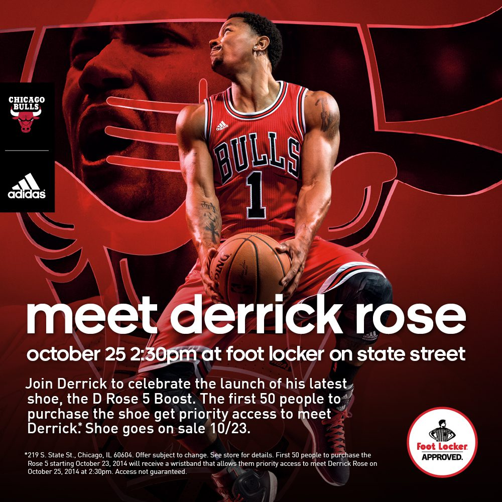 Derrick rose to meet and greet with adidas d rose 5 boost m4hsunfo