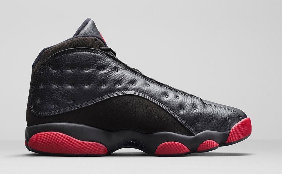 ... Air Jordan 13 Retro brings back a black leather and suede upper with Gym  Red pods. 940x792q80 940x482q80 940x583q80 940x610q80 ...