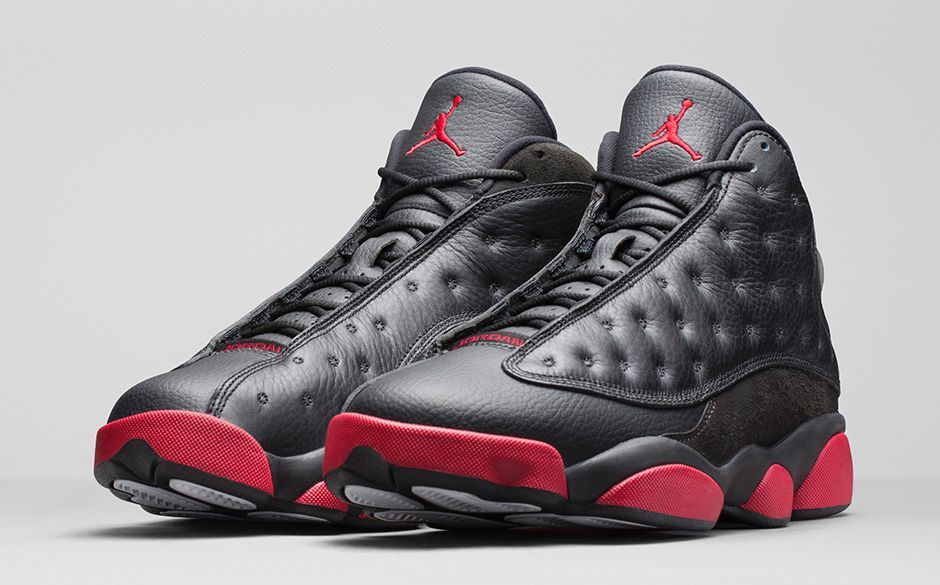 5c785e622bbe39 The Dets  Air Jordan 13 Retro  Black Gym Red  - Hardwood and Hollywood