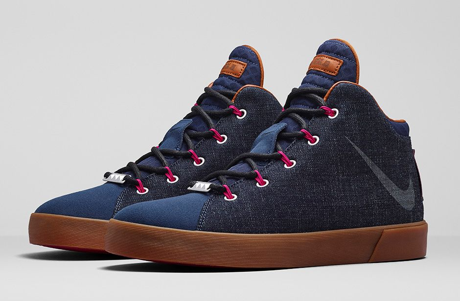 new concept b5c6a a5350 BMF Style  Nike LeBron 12 Lifestyle Denim - Hardwood and Hollywood