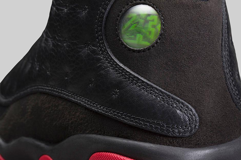 ... Air Jordan 13 Retro brings back a black leather and suede upper with Gym  Red pods. 940x792q80 940x482q80 940x583q80 940x610q80 940x627q80 ...