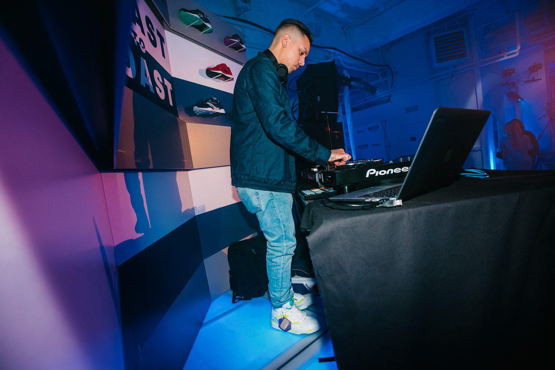 DJ Brenmar wearing Pump Omni Lites