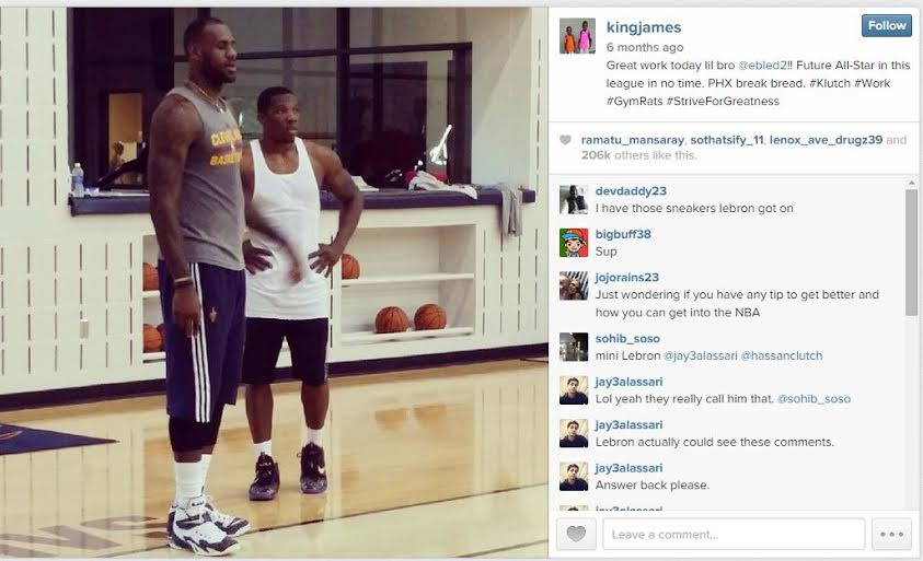 Courtesy of LeBron James/Instagram.
