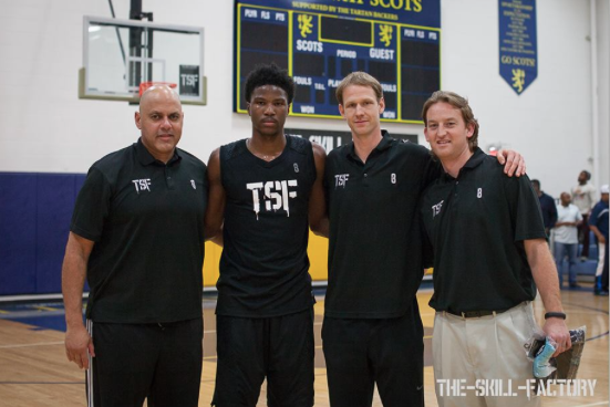 Doug Coombs-TSF partner and GM, Malik Beasley-Top 25 in the sr. class, committed to Florida State, Jeremiah Boswell-TSF partner and Director of Basketball, Josh Burr, TSF partner and founder. Photographer-Kira Burr.
