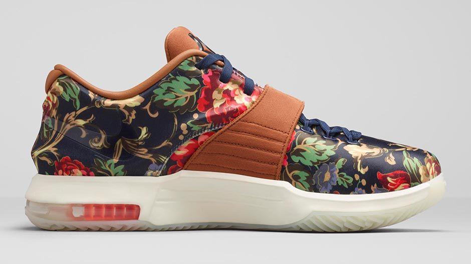 fbbe5484605 Nike KD VII EXT Floral Goes  Big  on Color - Hardwood and Hollywood