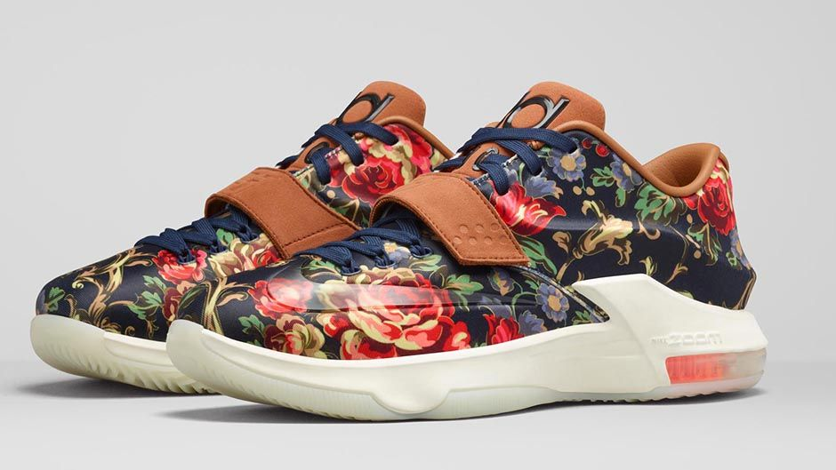 780c40cb377 Nike KD VII EXT Floral Goes  Big  on Color - Hardwood and Hollywood