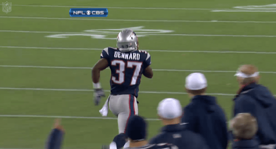 Screen capture courtesy of the NFL/CBS.