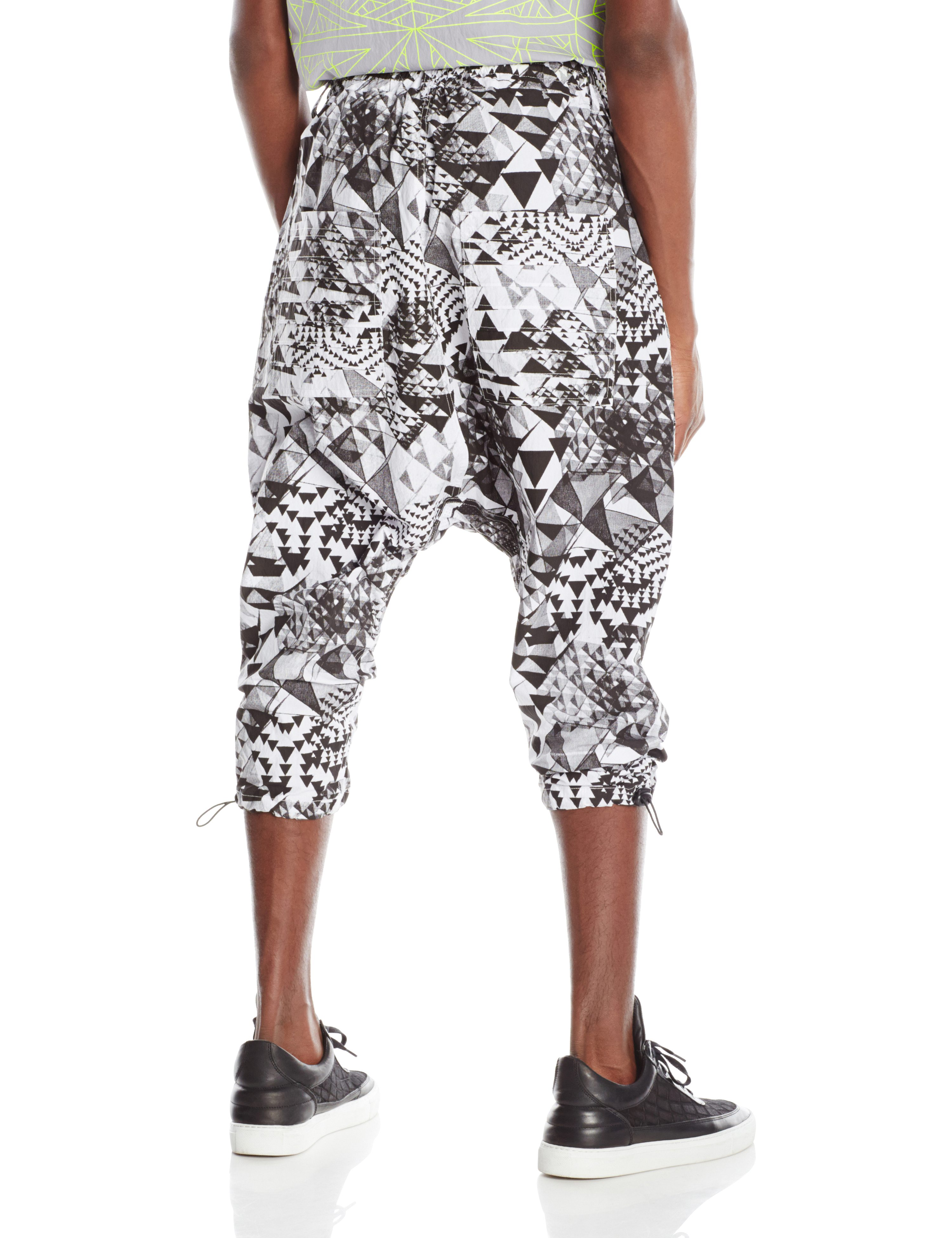 BACK-BACK-DROP PANT 2.0 WHITE BLACK PRINT.0600