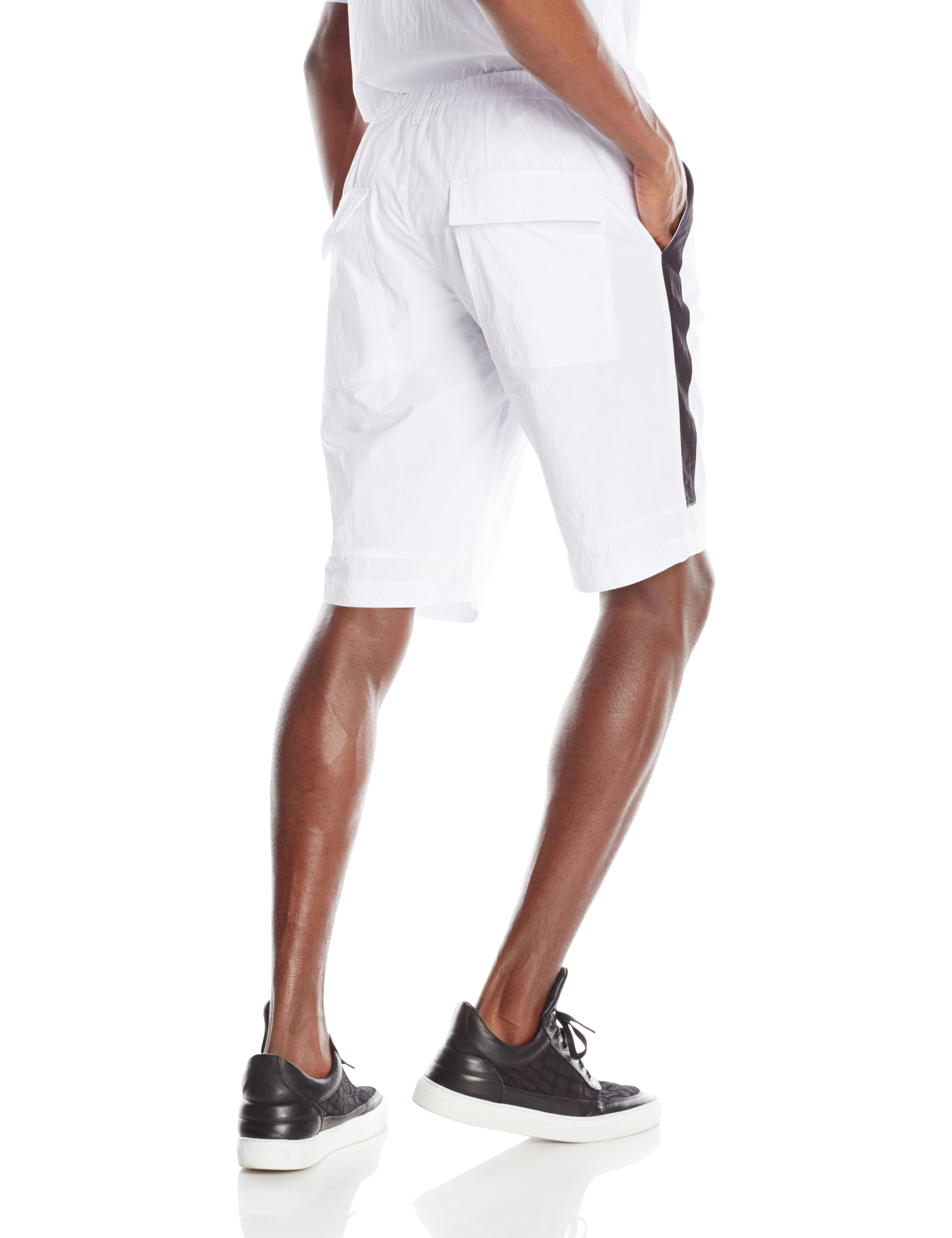 BACK-EPSILON SHORT WHITE BLACK TRIM.0125