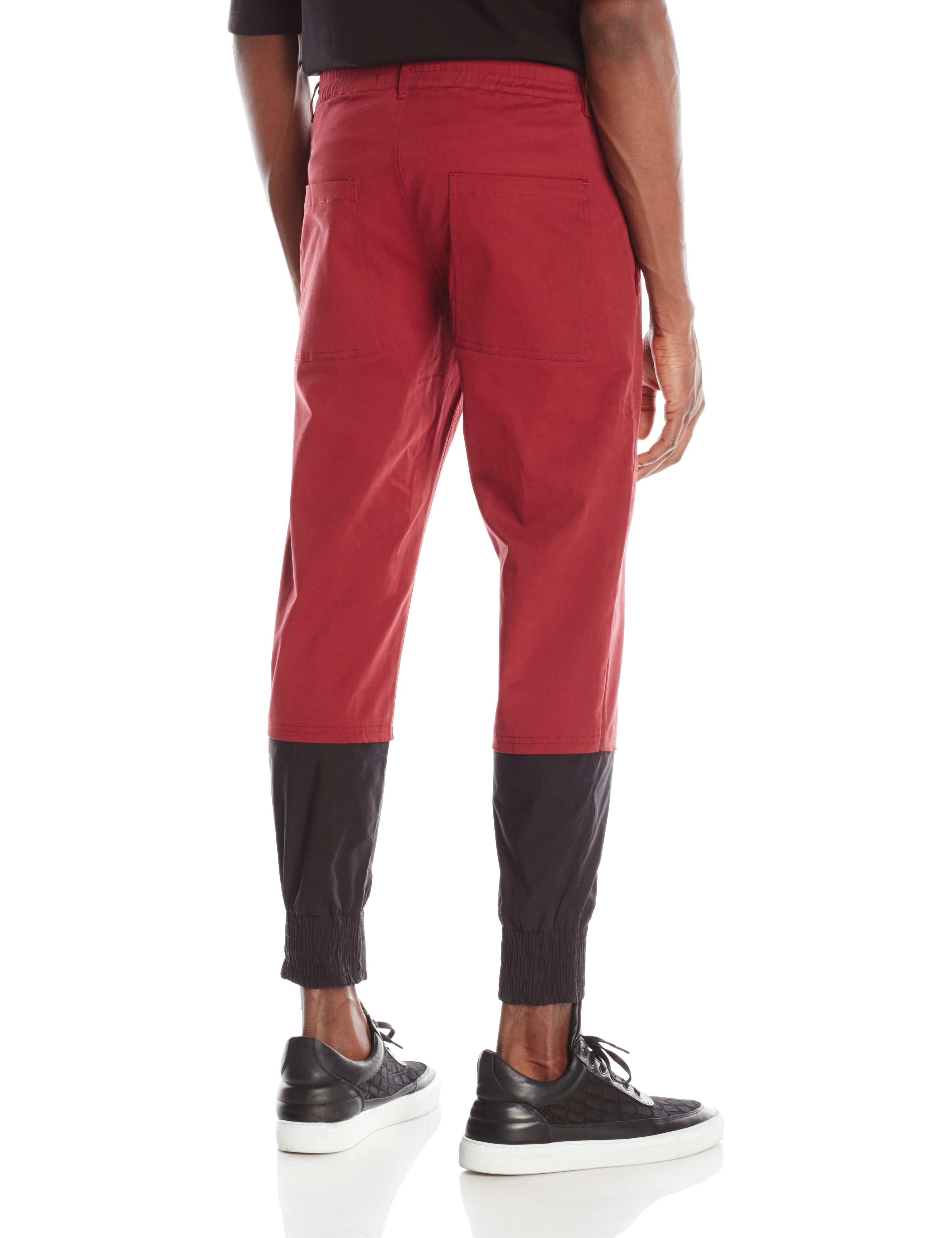 BACK-GLITCH PANT BURGANDY.0293