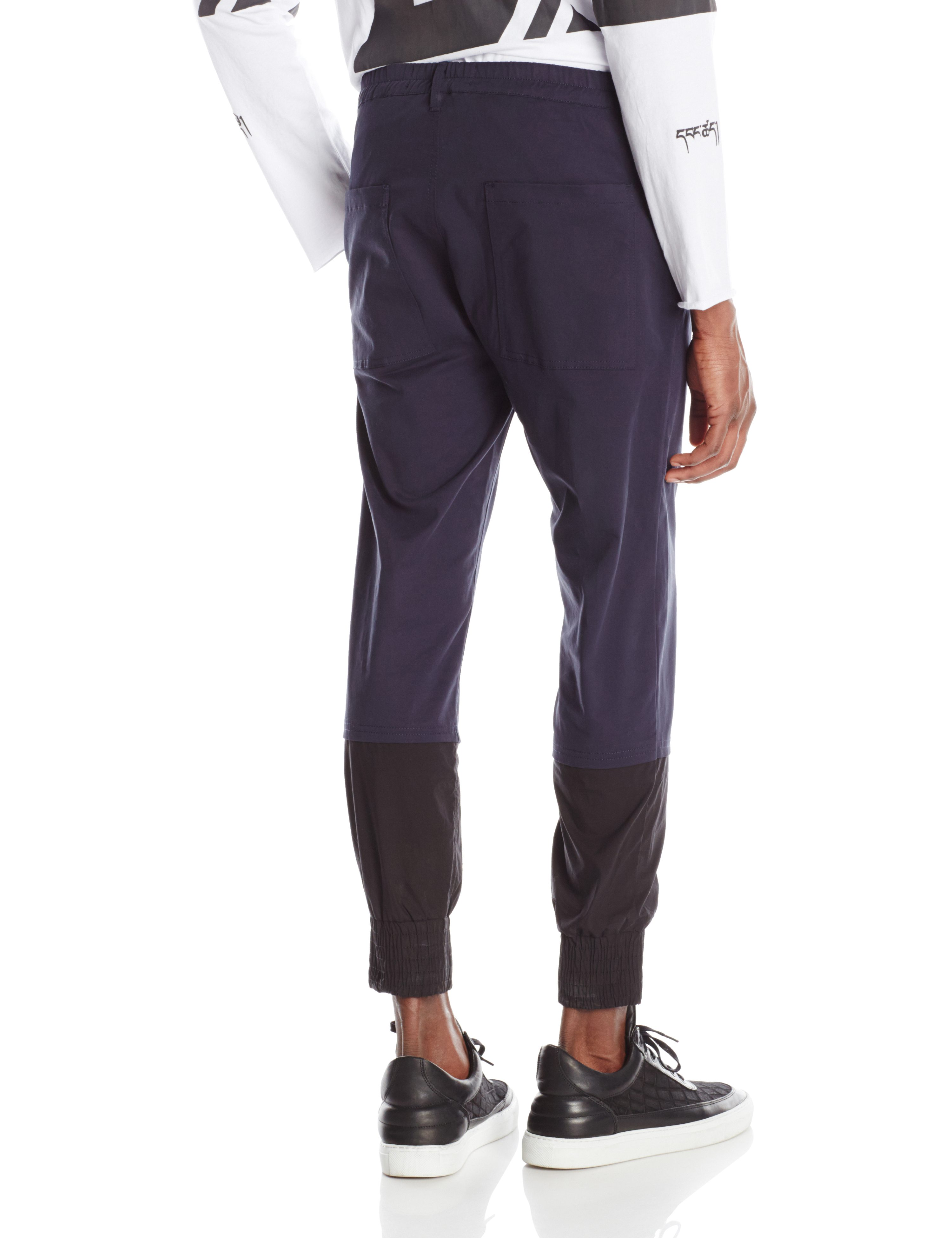 BACK-GLITCH PANT NAVY BLUE.0346