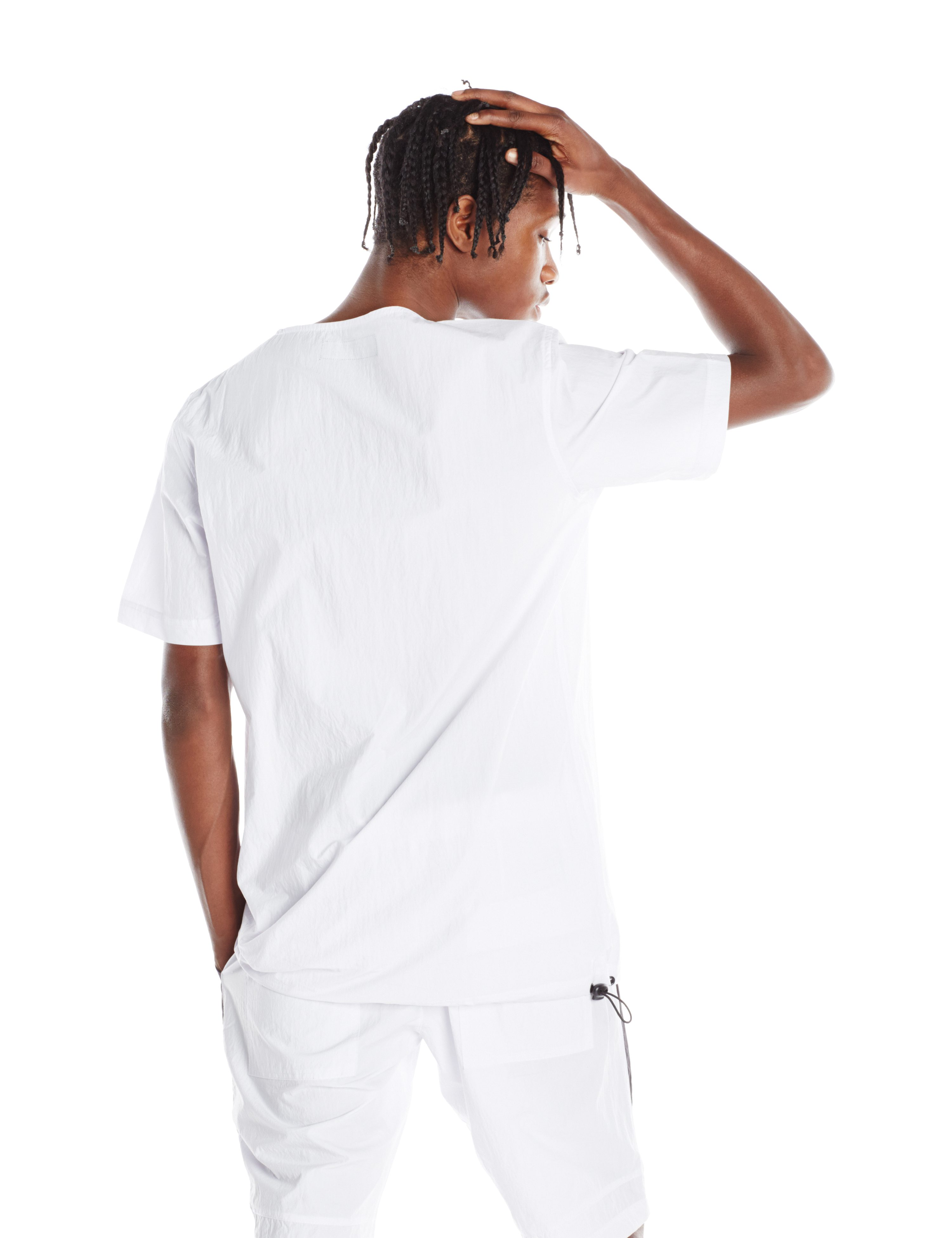 BACK-INFINTE WOVEN TEE WHITE.0096