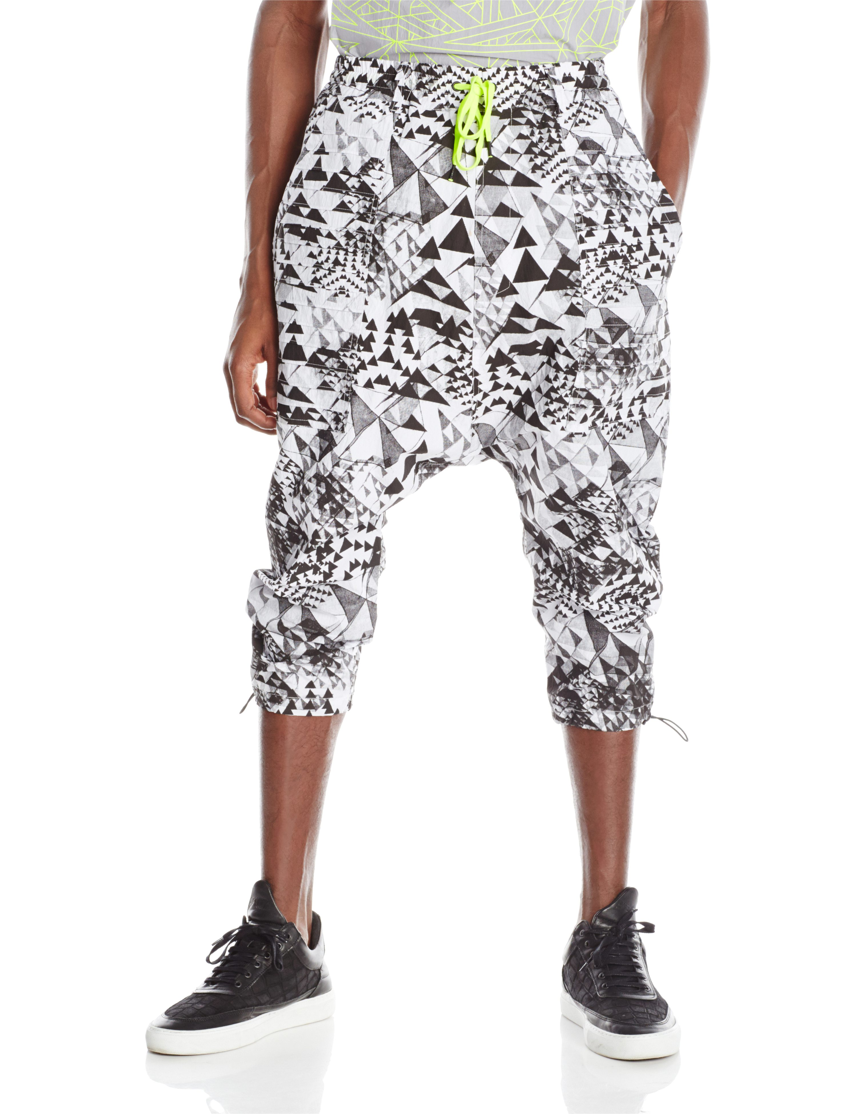 FRONT-DROP PANT 2.0 WHITE BLACK PRINT.0590
