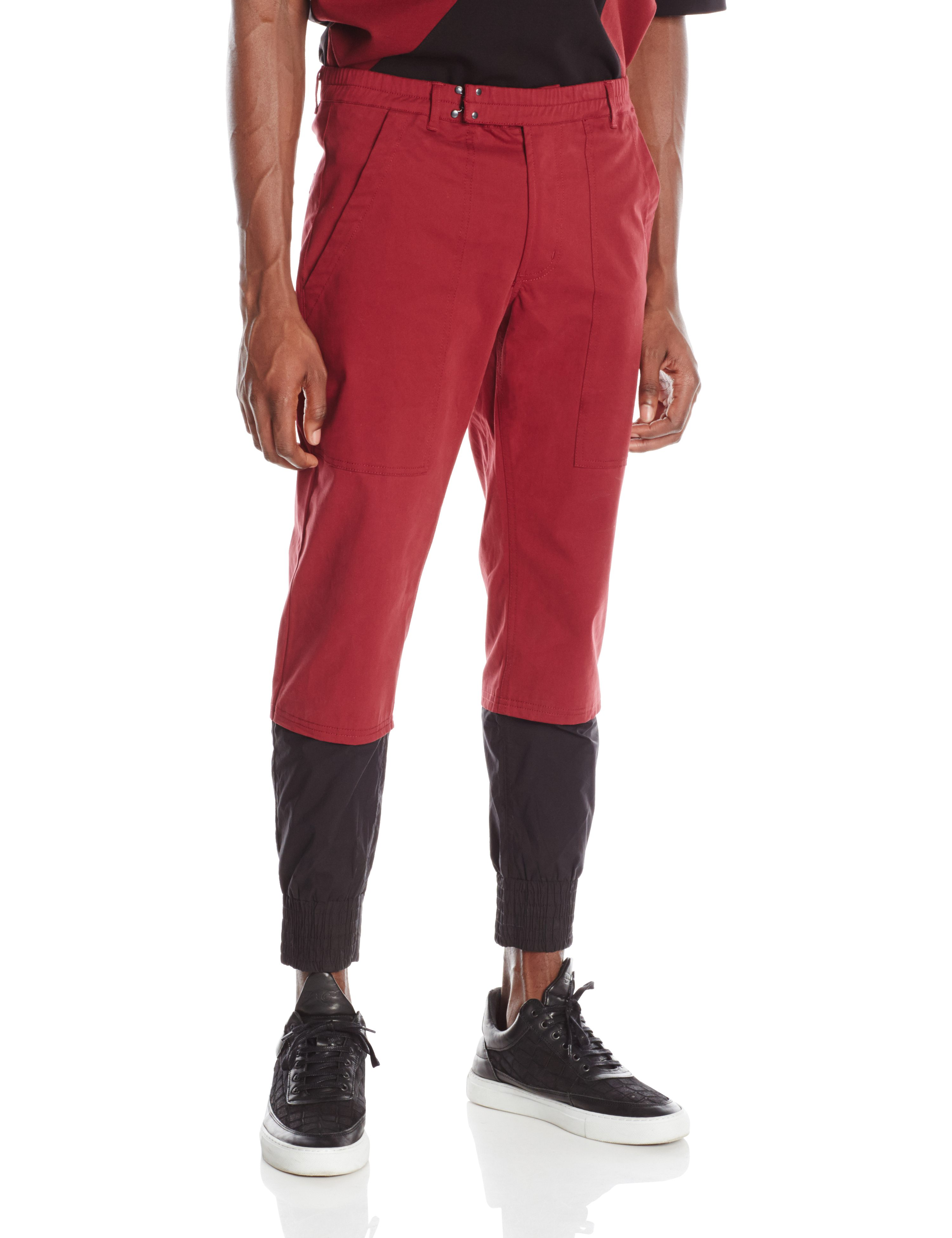 FRONT-GLITCH PANT BURGANDY.0283