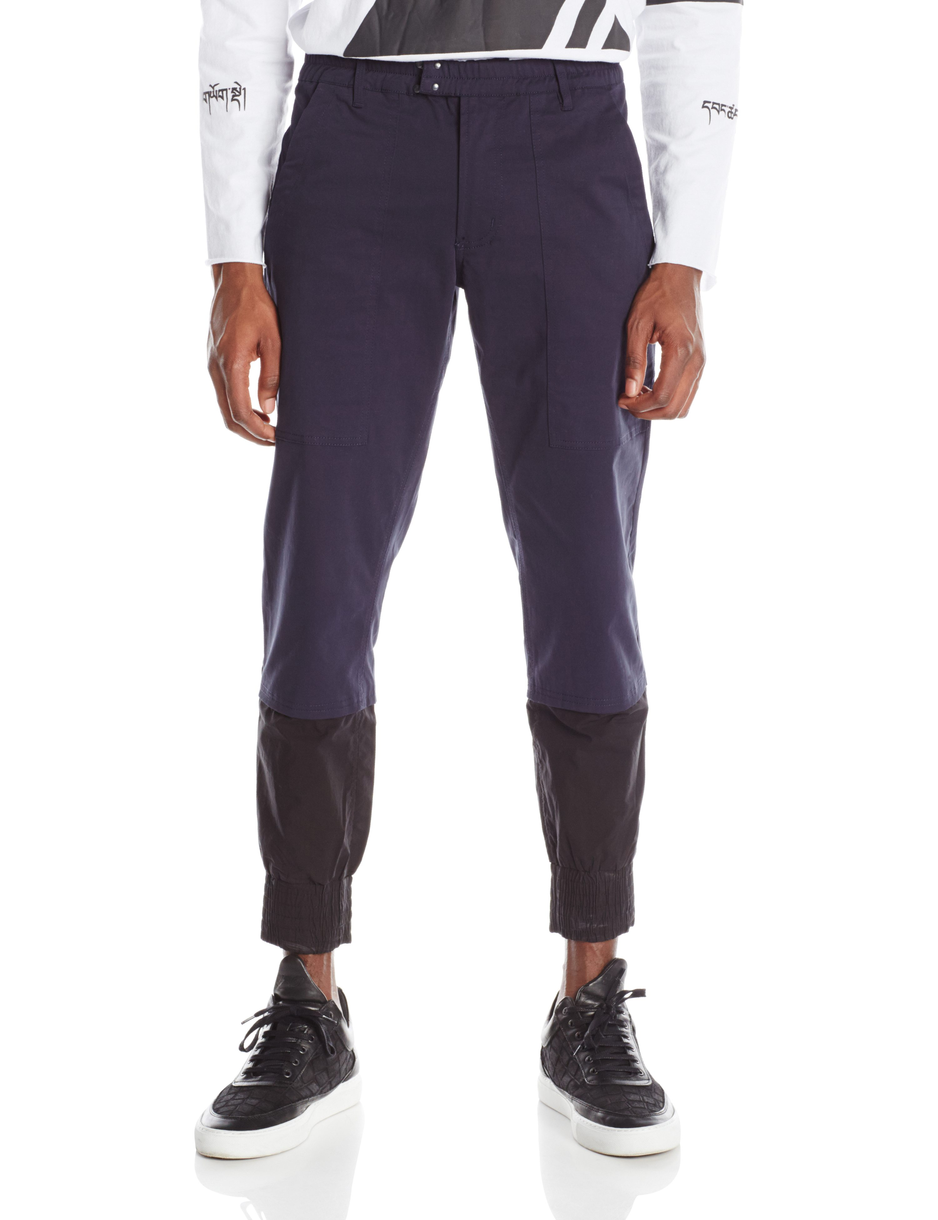 FRONT-GLITCH PANT NAVY BLUE.0339