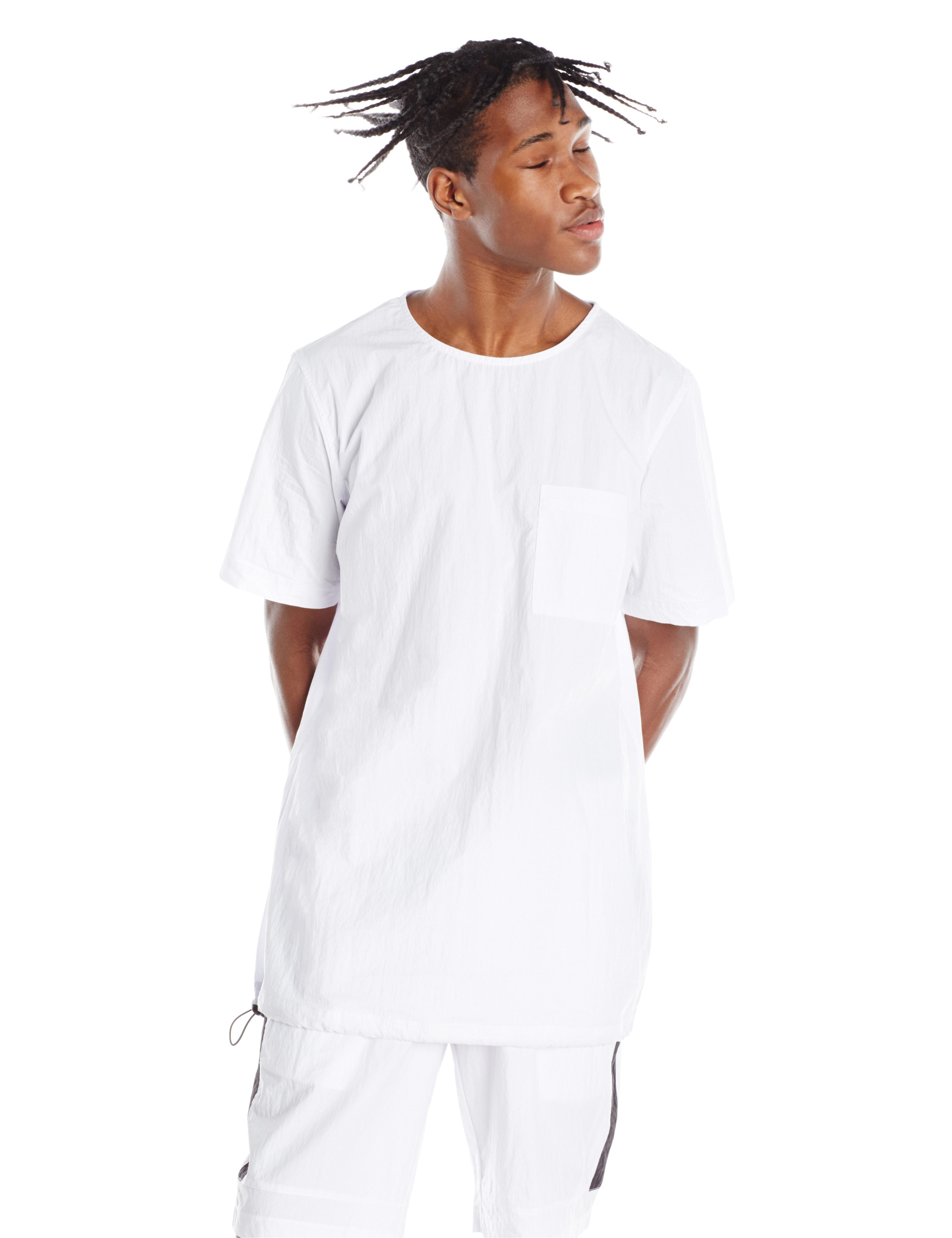 FRONT-INFINTE WOVEN TEE WHITE.0072