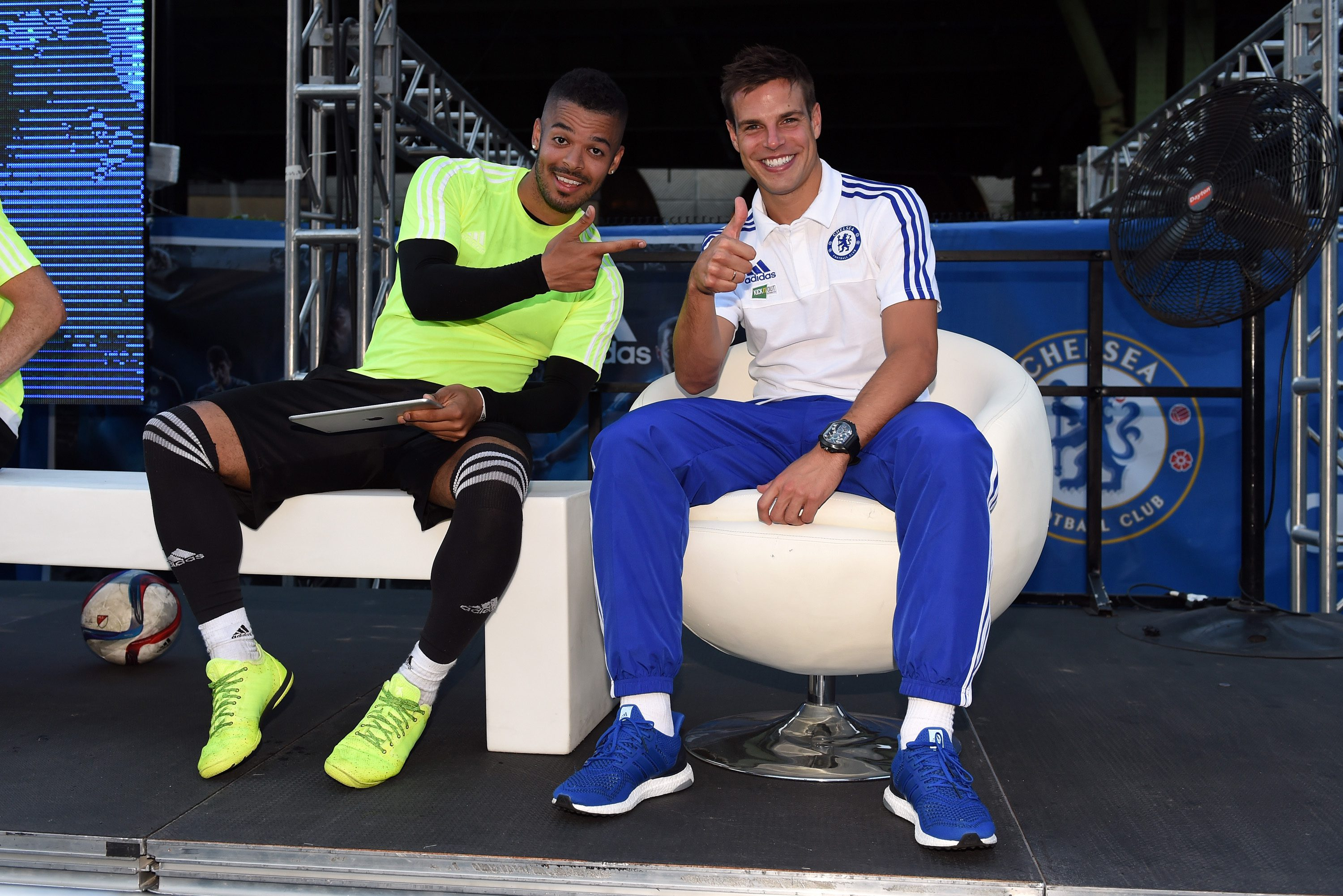 Chelsea's Cesar Azpilicueta during the Adidas Be The Difference Event on 21st July 2015 at the FC Harlem Training Ground in Harlem, New York, USA.
