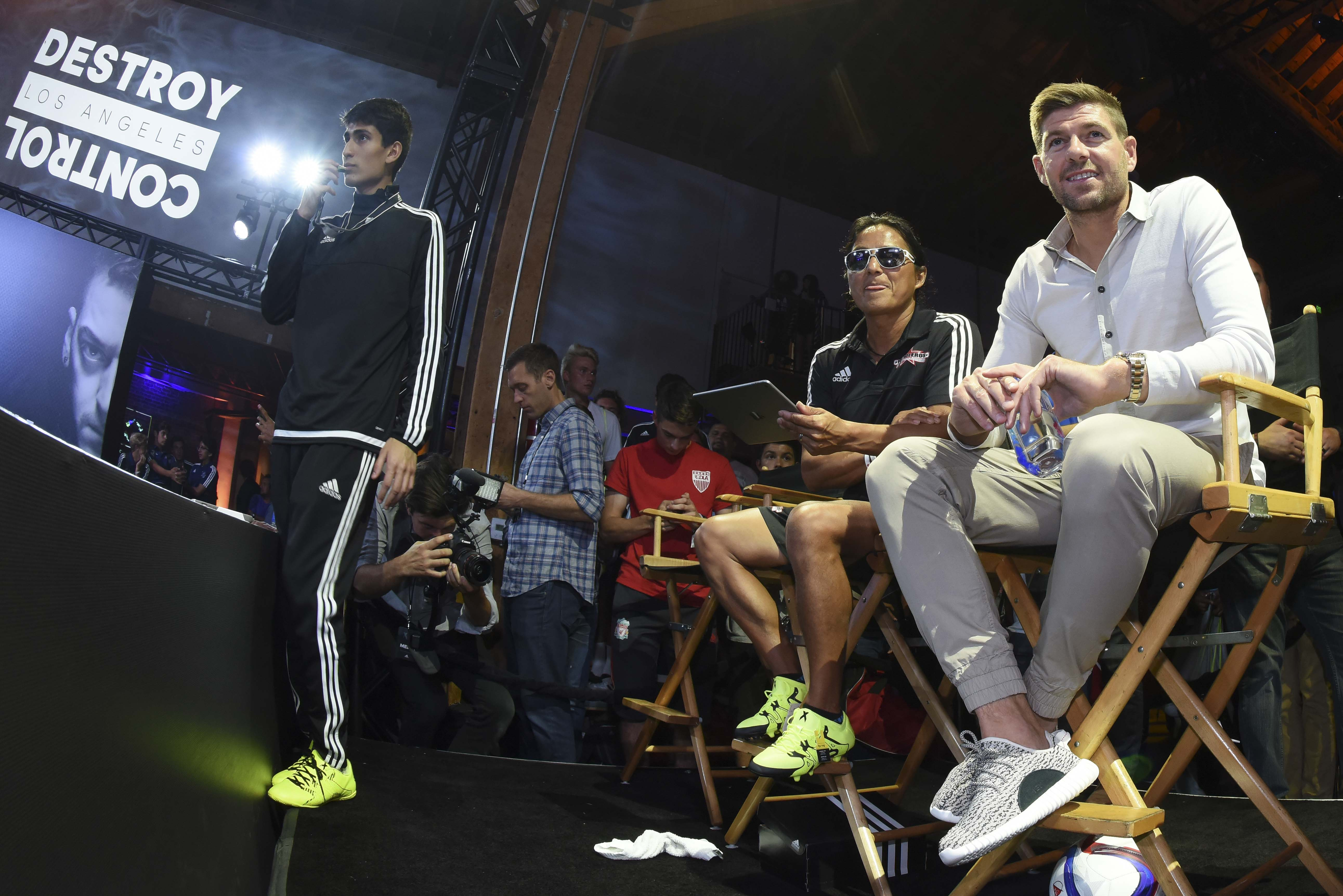 Steven Gerrard (R) - adidas Be The Difference LA (3)