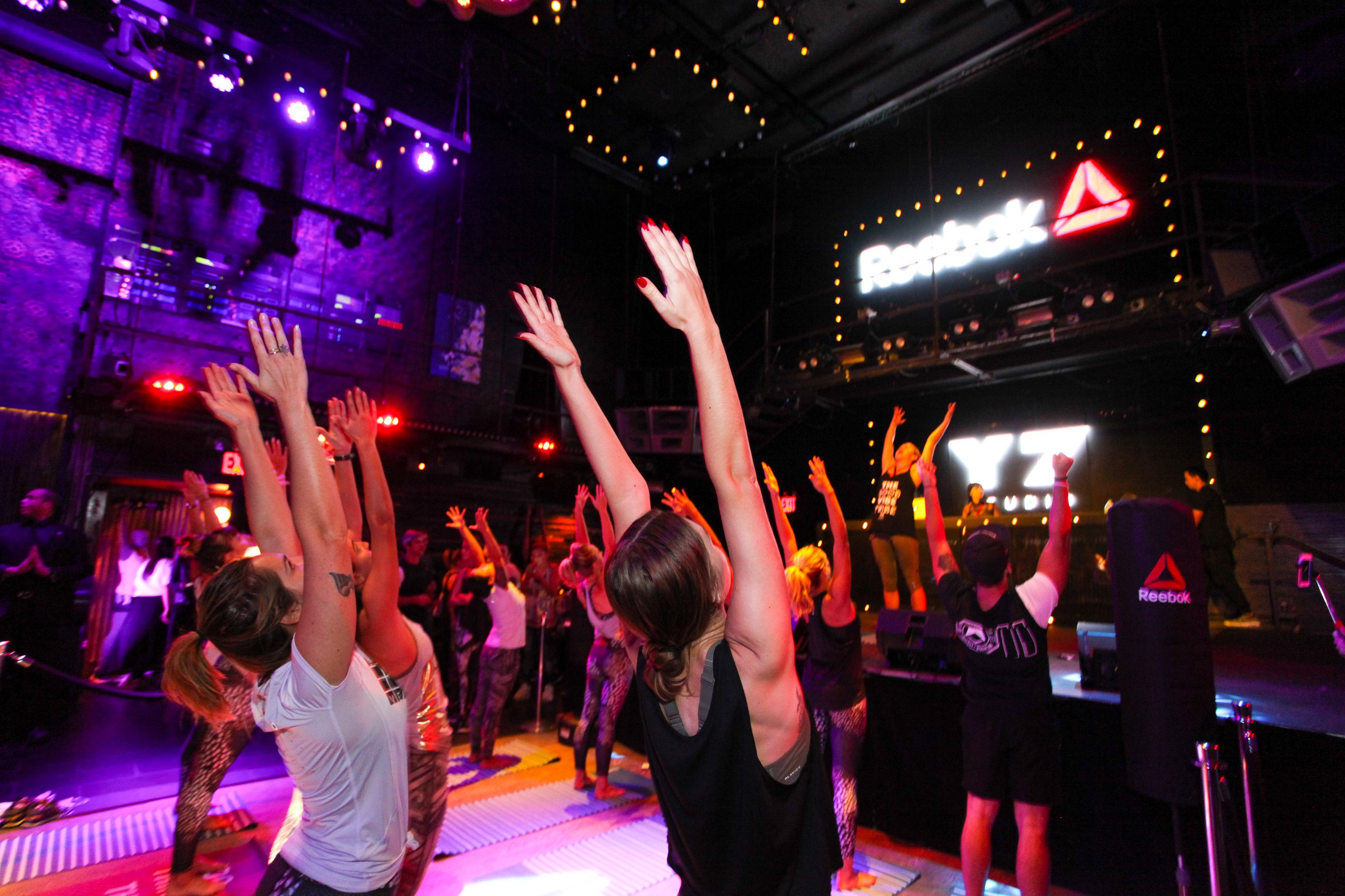 NEW YORK, NY - SEPTEMBER 16: Guests participate in the Y7 Class at Marquee on September 16, 2015 in New York City. (Photo by Donald Bowers/Getty Images for Reebok)