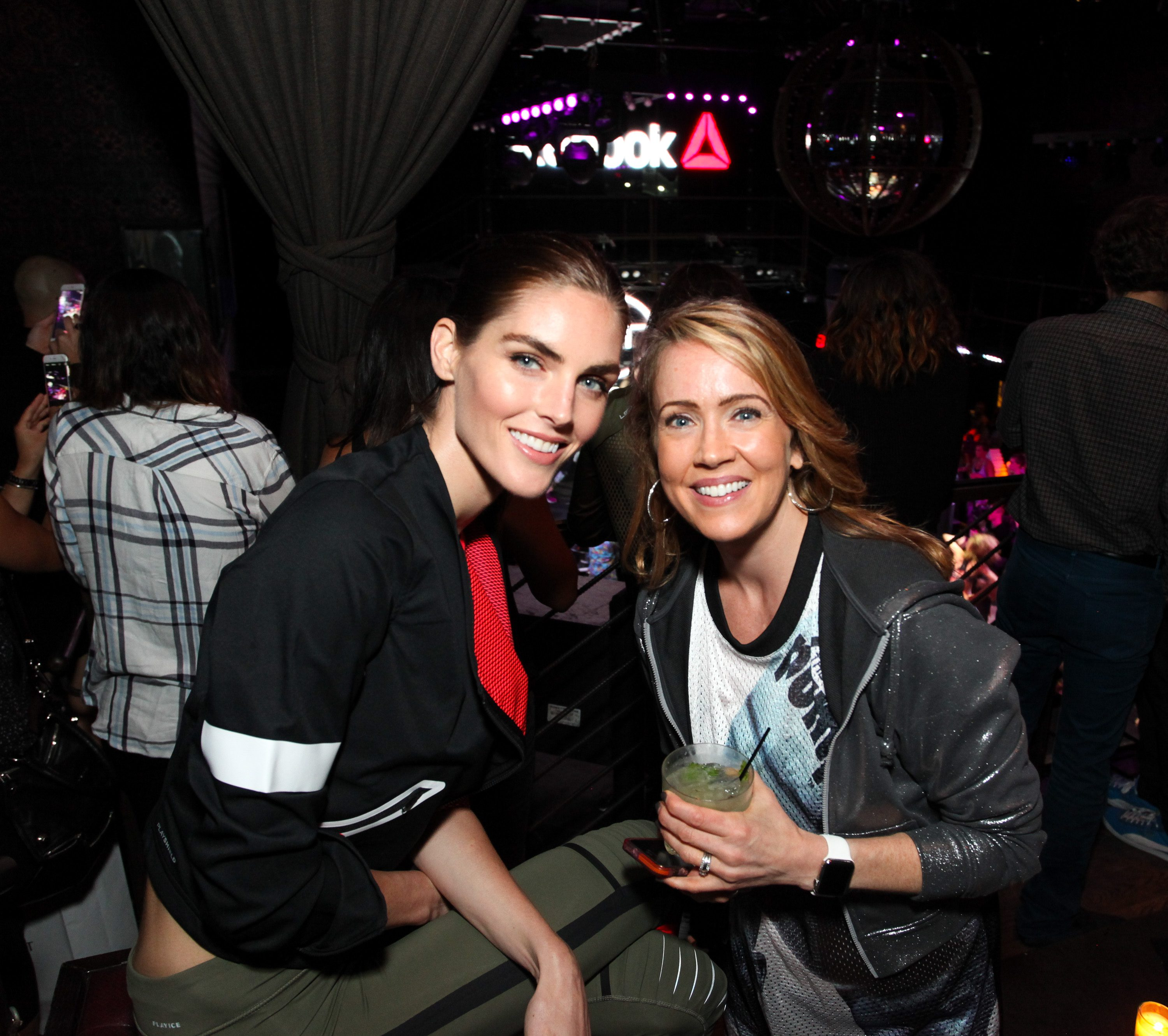 NEW YORK, NY - SEPTEMBER 16: (L-R)Hilary Rhoda and Catherine Marshall attend The Reebok #girlswithgrit Showcase at Marquee on September 16, 2015 in New York City. (Photo by Donald Bowers/Getty Images for Reebok)