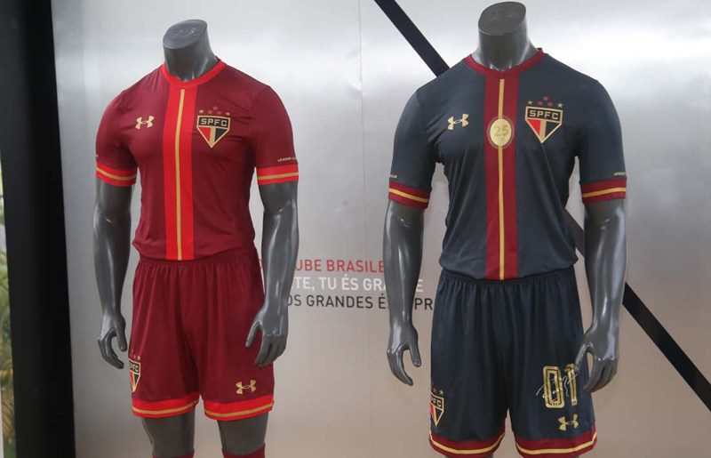 9802c347457 Sao Paulo F.C. soccer football kits get  beautiful  Under Armour ...