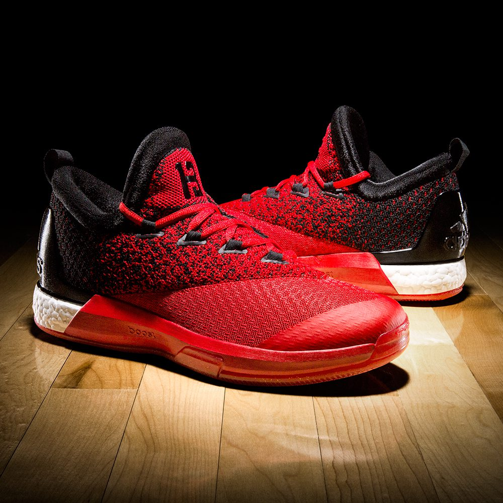 adidas and james harden reveal home and road crazylight boost 2 5 pes hardwood and hollywood. Black Bedroom Furniture Sets. Home Design Ideas