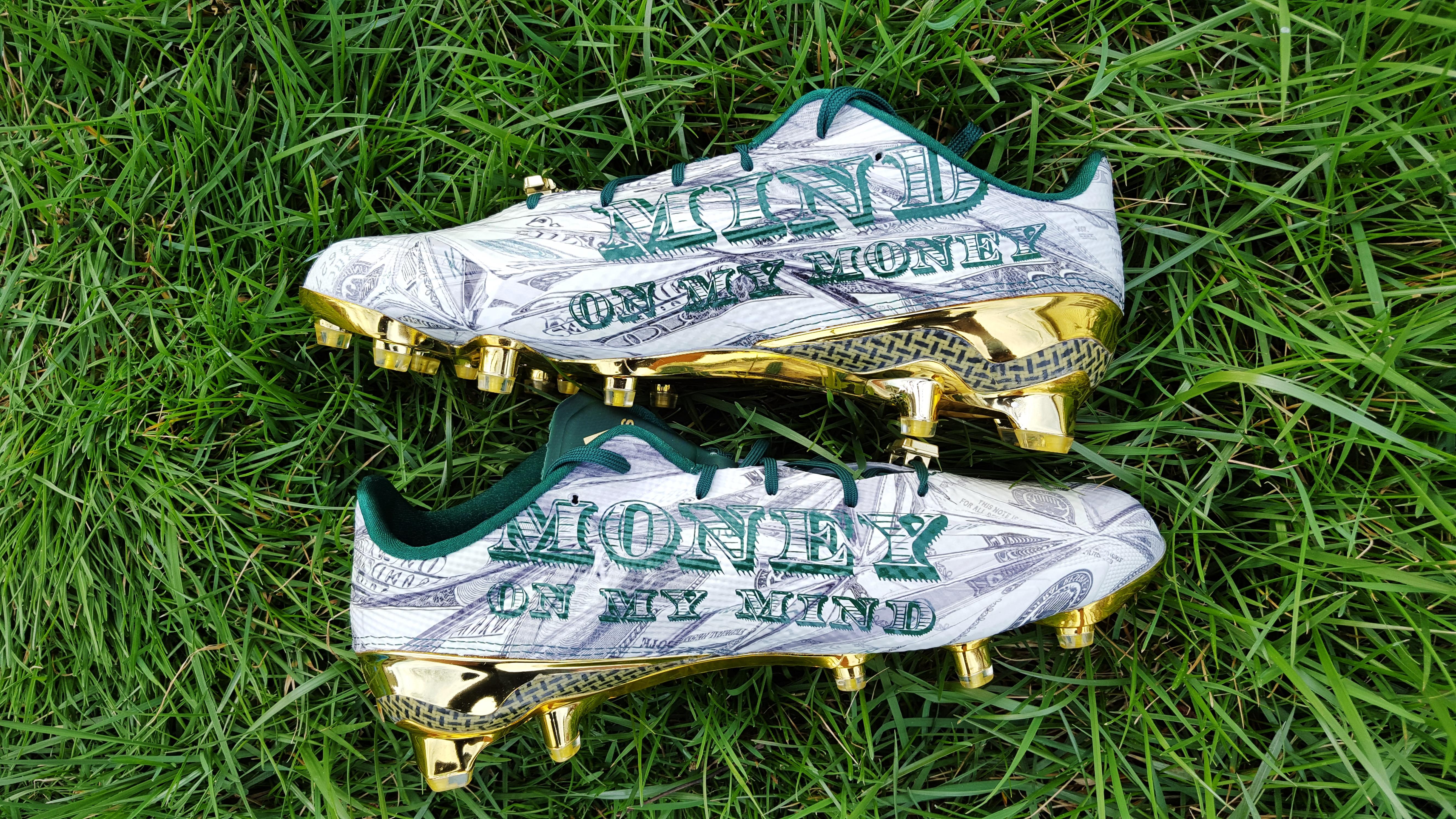 5cb0c7ee2ad4 Look Closer presents... adidas adizero 5-Star 5.0 Snoop Money Cleat -  Hardwood and Hollywood