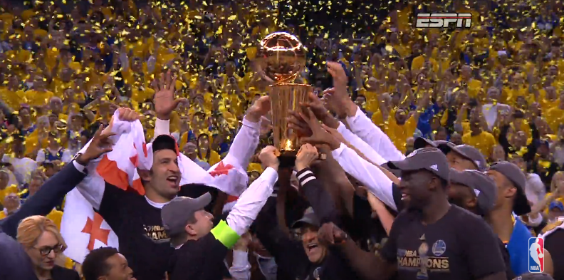 Warriors Find Redemption Win Nba Championship Hardwood And Hollywood