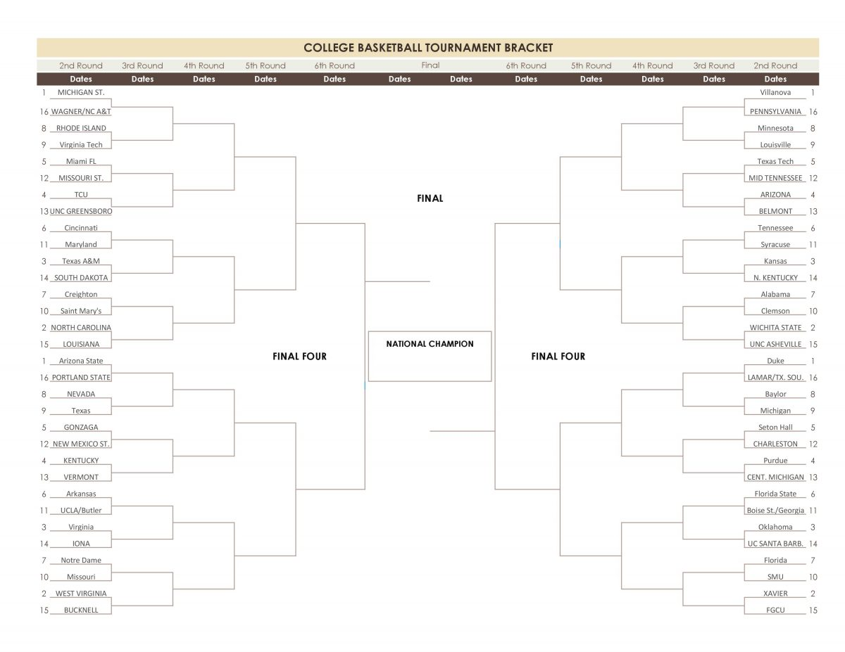 March Madness 2018-123117
