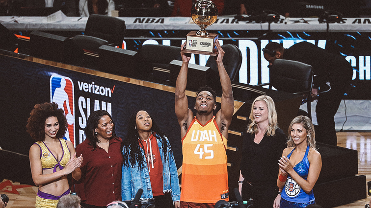 Donovan Mitchell Slams the Competition to Win Dunk Contest - Hardwood and Hollywood