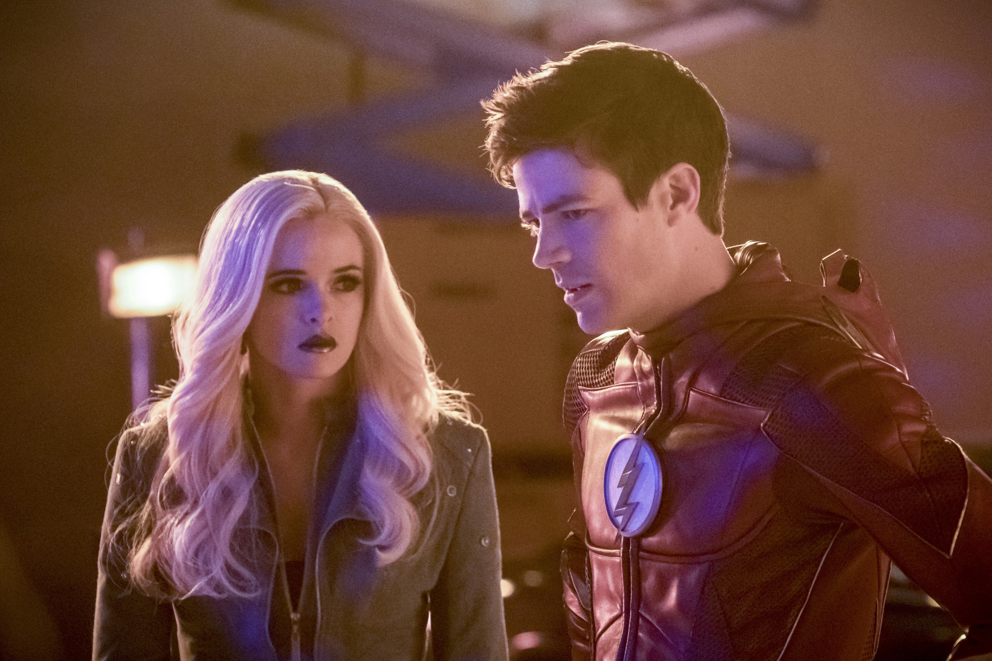 The Flash talks to Killer Frost.