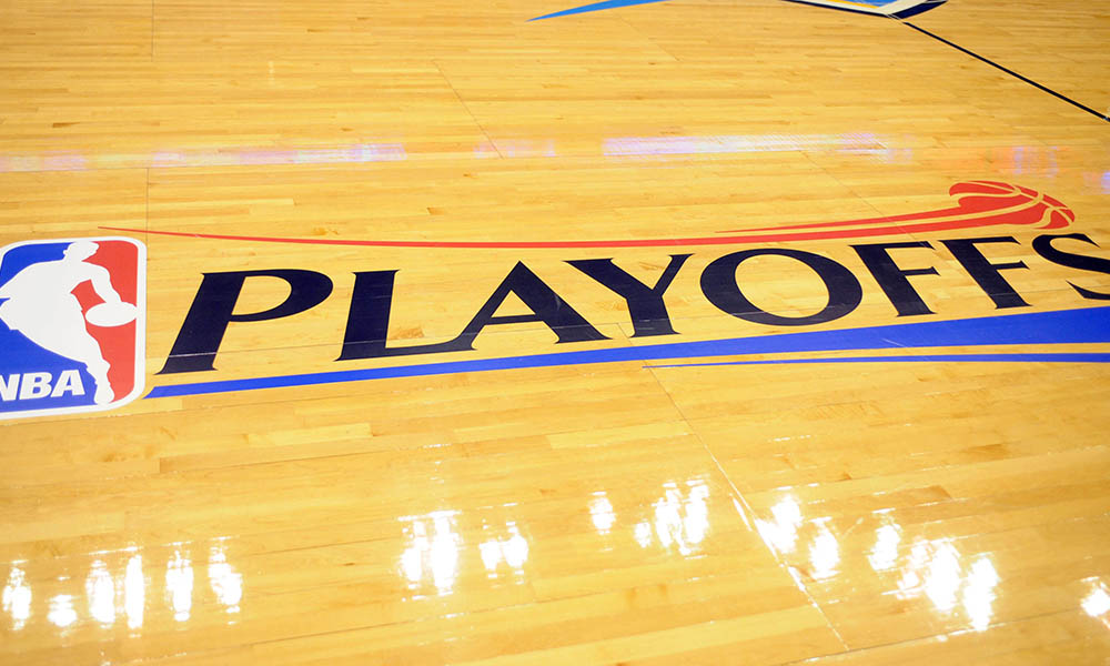 Apr 21, 2013; Oklahoma City, OK, USA; A general view of court prior to action between the Oklahoma City Thunder and the Houston Rockets during game one of the first round of the 2013 NBA Playoffs at Chesapeake Energy Arena. Mandatory Credit: Mark D. Smith-USA TODAY Sports ORG XMIT: USATSI-132004 ORIG FILE ID: 20130421_ajl_ax3_356.jpg
