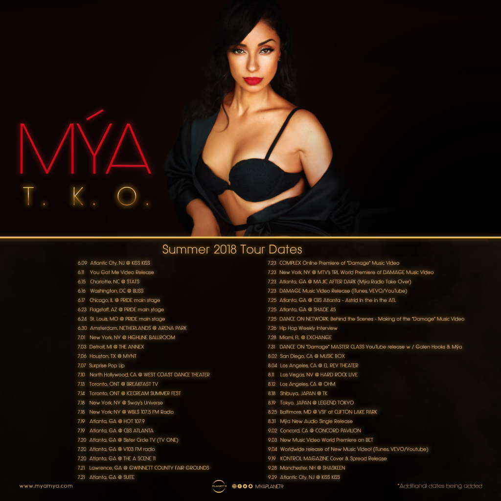 Mya TKO Tour Dates